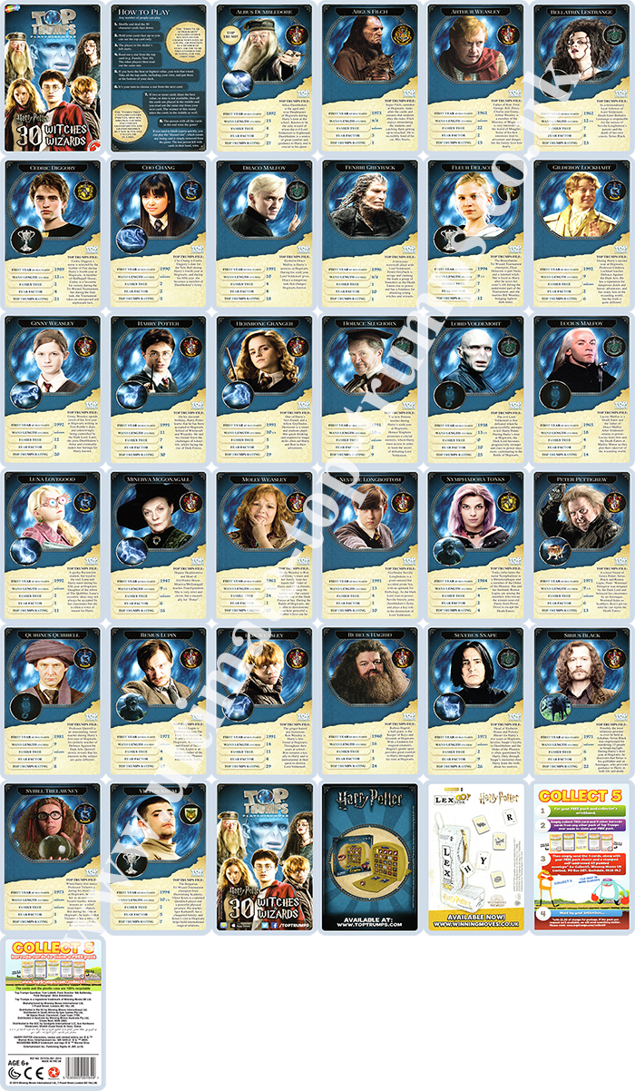 Harry Potter 30 Witches & Wizards